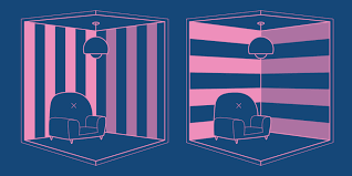 Half close your eyes, which room appears to have the higher ceiling. The one on the left?